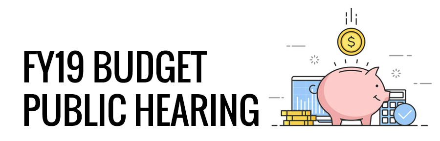 Budget Public Hearing graphic